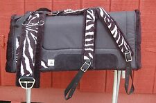 RIDERS CHOICE ZEBRA SADDLE PAD GIRTH COLLAR FREE SHIP  MADE IN ALABAMA USA