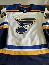 St Louis Blues Set 1 Game Worn Used Jersey Adidas Nhl 58 Mic Tanner Kaspick