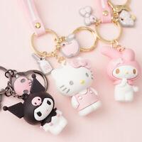 Sanrio Cartoon Keroppi Hello Kitty Kuromi Bad Badtz-Maru Keychain Purse Charm