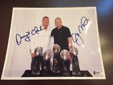 Dwight Clark Joe Montana Signed 8x10 Photo Beckett BAS San Francisco 49ers Auto