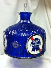 Pabst beer sign hanging chandelier crystal heritage bar blue new Detroit Nos Mb6
