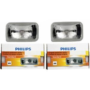 2 pc Philips High Beam Headlight Bulbs for Pontiac Firebird Sunbird qz