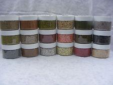Complete Huge Model Hobby Kit Set Ballast Sand & Gravels 18 x 200ml Jars & Lids