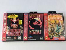 Judge Dredd Mortal Kombat Eternal Champions - Sega Genesis *TESTED & AUTHENTIC*