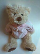 "GUND May Dept 17"" Light Tan Teddy Bear Plush Pink BREAST CANCER Ribbon 🎀🐻"