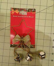 Christmas door hanger with bells x2