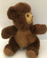 "DAN DEE Vintage 16"" Soft Unique Rubber Face Plush Stuffed Teddy Bear  turn head"