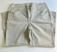 Lane Bryant Womens Pants Plus Size 20 Skinny Taupe Cotton Spandex