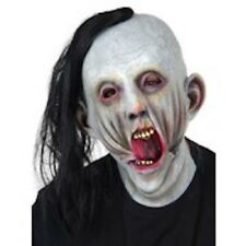 Screaming Tortured Man Mask with Hair Cosplay Halloween Costume Accessories