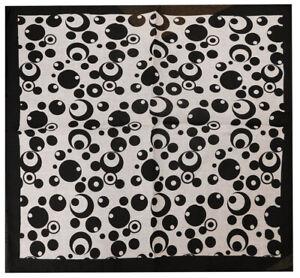 """Black & White Bubbles Circles Polka Dot 22""""x22"""" 100% Cotton Bandanna"""