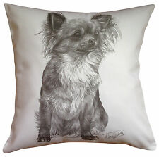 Chihuahua L/h MS Breed of Dog Themed Cotton Cushion Cover - Perfect Gift