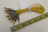 Lot of (9) EAI Electronic Associates Yellow Communication Cable Patch Cord
