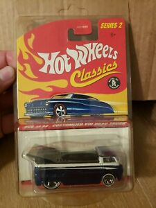"HOT WHEELS CLASSICS SERIES 2 CUSTOMIZED ""VW DRAG TRUCK"" TEAL/WHITE - New"