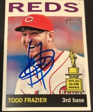 Todd Frazier Reds 2013 Signed Auto Autographed Topps Heritage Card #85 ~ COA
