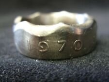 Handmade Irish coin ring - 1970, size V 1/4 (US 10 3/4), Ireland, (R1448)