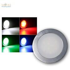 Juego de 3 Reflector empotrable led RGB, Liso Luz Piso Foco Suelo