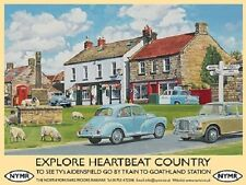 Heartbeat Country 60's Yorkshire NYMR Classic Cars Village Medium Metal/Tin Sign