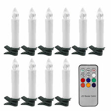 10X Flameless Flickering LED Candles Tea Light Battery Operated + Remote Control