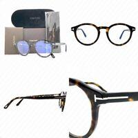 Authentic Tom Ford TF5529 052 50mm Blue Block - Dark Havana FT5529 Eyeglasses