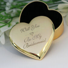 Personalised Heart Gold Trinket Box FREE ENGRAVING Jewllery Box Mothers Day