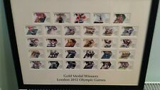 London 2012 Olympics Gold Medal Winners Stamps Mount