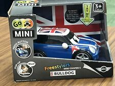 Go Mini Cooper S Freestyler Bulldog Jaxx Union Jack Car Golden Bear Toy New