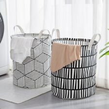 Large Basket Hamper for Laundry Foldable Wash Clothes Dirty Storage Bin Round 1X
