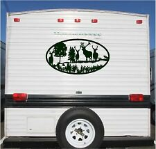 Deer Landscape Camper RV Vinyl Decal Sticker 23x42 Camper Graphics Stickers