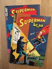 Superman Géant numéros 1 et 2 - Sagédition - 1973 – NEUF