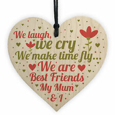 Mum Best Friend Gifts Wooden Heart Sign Christmas Birthday Gift For Mummy Mother