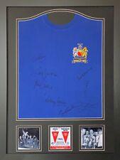 c6d1ed24a FRAMED MANCHESTER UNITED 1968 EUROPEAN CUP FINAL SHIRT SIGNED x 8 CHARLTON  COA
