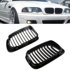 For 99-02 BMW E46 3-Series FaceLift Coupe 2DR Matte Black Front Kidney Grille