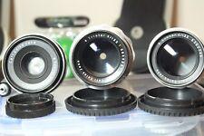 Zeiss Tessar Triotar Sonnar Lens x3 exakta mount