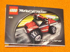 Lego Set 8130 INSTRUCTIONS ONLY Racers Terrain Crusher Manual Booklet Book Race