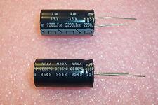 QTY (10) 2200uf 35V RADAL ALUMINUM ELECTROLYTIC CAPACITORS NRSA222M35V16X31 NIC