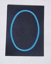 #) cadre passe-partout photo - Oval - Gris - Bleu azur