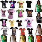WOW Rockabilly Punk Rock Emo Fashion TOP ANGEBOT T-Shirt XS/S/M/L 34/36/38/40
