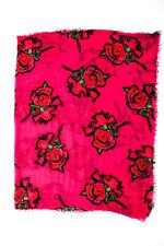 Louis Vuitton Womens Cashmere Floral Print Light Weight Scarf Pink Green