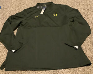 Nike Oregon Ducks Coaches 1/2 Zip Shirt Men's Size: 3XL 2020 NWT Sequoia Green