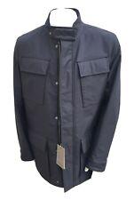 NEW CANALI Men's Wool Nylon Windbreaker Navy Winter Coat Size L
