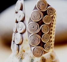 Silberring 2,7 cm lang Handarbeit Spirale Ring Silber Offen 61 - 66 Antik Matt
