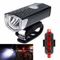 Ensemble de phares rechargeables USB avant et arrière avec éclairage de vélo