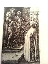 Albrecht Durer 3x4.5 1512 plate signed B10  engraving Ecce Homo