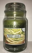 Yankee Candle SWEET GRASS 22 oz Collector's Jar Limited Edition HTF