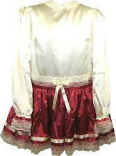 READY 2 WEAR | Deluxe SATIN Adult Sissy Girl Halloween Costume Dress LEANNE