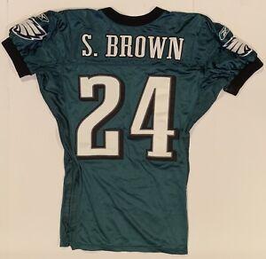 2004 Sheldon Brown Philadelphia Eagles Game Worn Football Jersey MeiGray auth