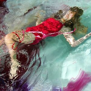 """TERRY HASTINGS """"Party Girl"""" Fine ART Photocollage 12""""x12"""" on metal Free Shipping"""