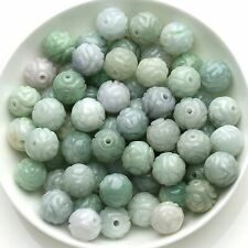 Wholesale 50pcs 100% wholesale natural jade beads carved jadeite A goods 10mm