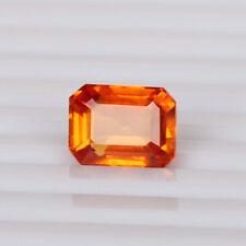 Natural Padparadscha Orange Sapphire 5.25 Ct Octagon Loose Certified Gemstone