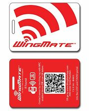 NFC Smart Travel Luggage Tag & Geolocation web app! 4 Colors available! Bag Tag.